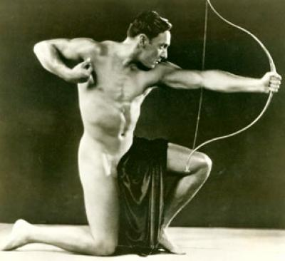 man with bow 1925