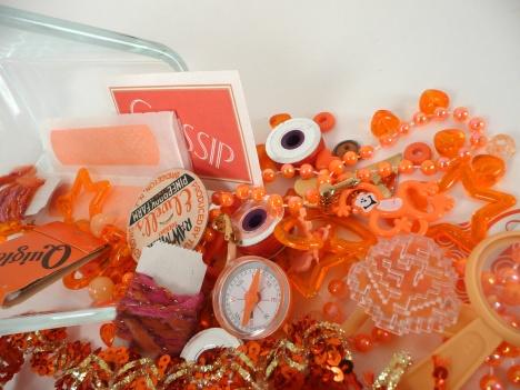 orange kit spilled