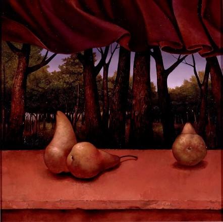 kent pears in landscape