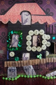 nina halloween shadowbox close-up
