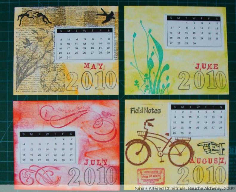 Handmade Calendar Tutorial : Nina s altered christmas project handmade calendar