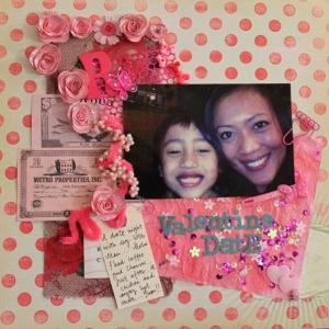 pink parts mixed media kit layout