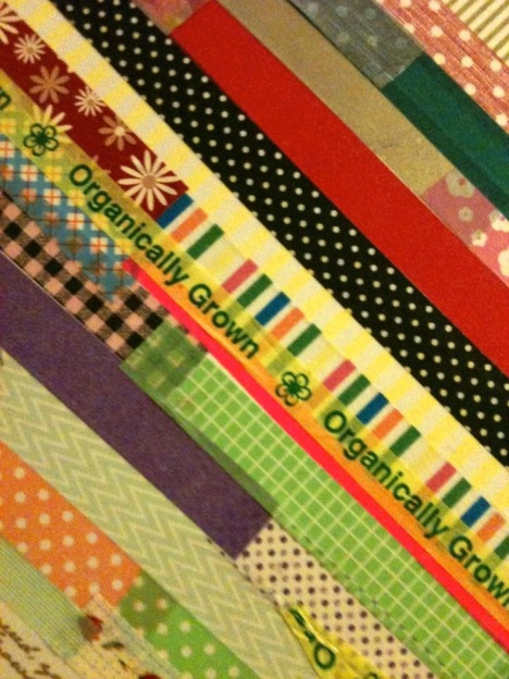 washi tape smash book cover